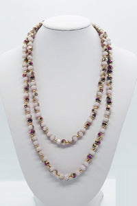 Multi Color Glass Bead Necklace - N175