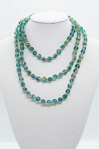 Blue/Green Glass Bead Necklace - N177