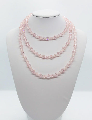 Pink Glass Bead Necklace - N192