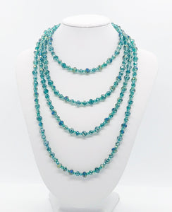 Dark Green Glass Bead Necklace - N193