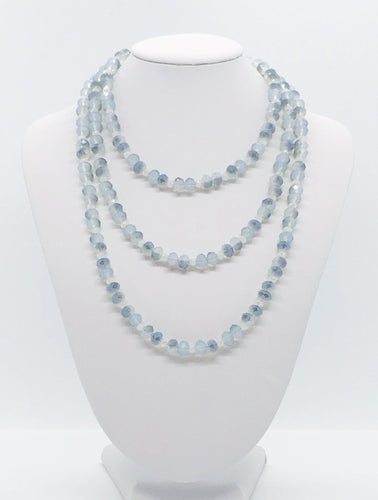Blue Glass Bead Necklace - N198