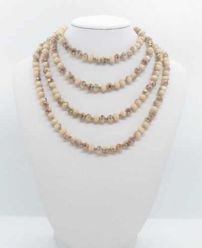 Glass Bead Necklace - N206