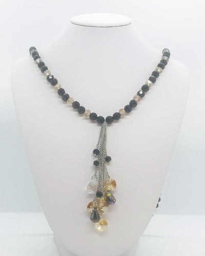 Tassel and Glass Bead Necklace - N208