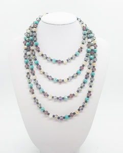 "63"" Handmade Glass Bead Necklace - N217"