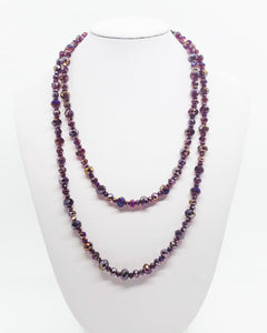 "38"" Glass Bead Necklace - N222"