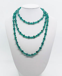 "48"" Glass Bead Necklace - N225"