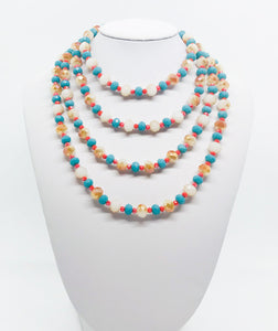 "59"" Glass Bead Necklace - N226"