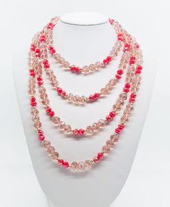 "69"" Glass Bead Necklace - N227"