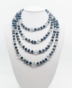 "66"" Glass Bead Necklace - N229"