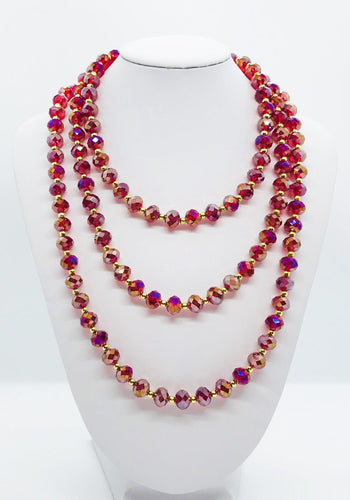 Glass Bead Necklace & Matching Bracelet Set - NB100