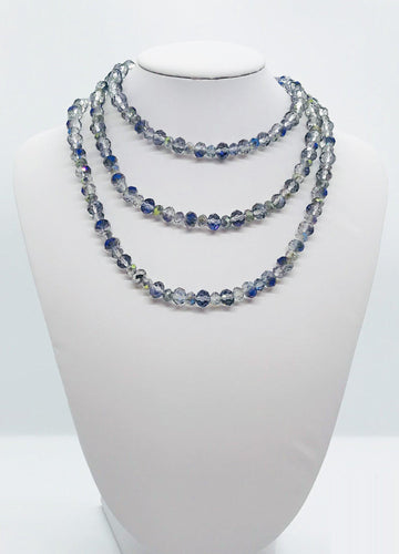 Glass Bead Necklace & Matching Bracelet Set - NB109