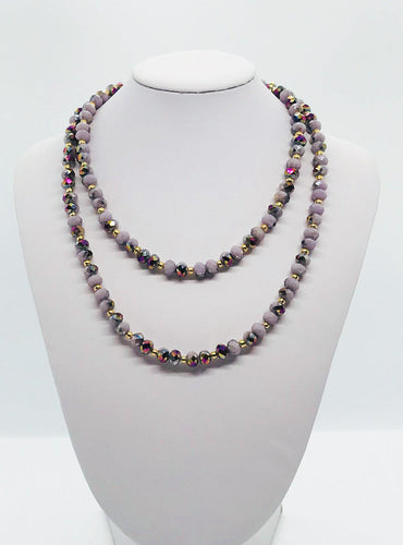 Glass Bead Necklace and Matching Bracelet Set - NB111