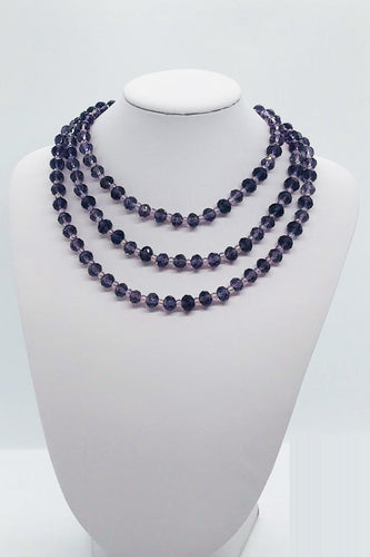 Glass Bead Necklace and Matching Bracelet Set - NB118