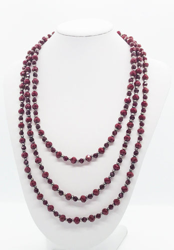 Glass Bead Necklace and Matching Bracelet Set - NB125