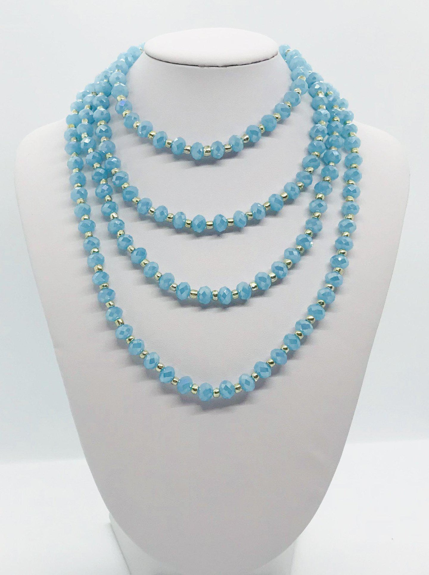 Glass Bead Necklace and Matching Bracelet Set - NB131
