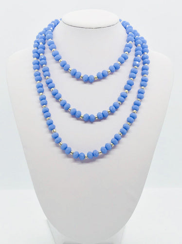 Glass Bead Necklace and Matching Bracelet Set - NB132