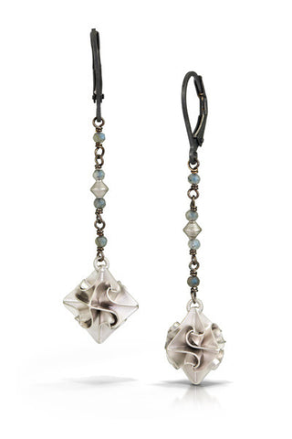 stardust dangle earrings - silver