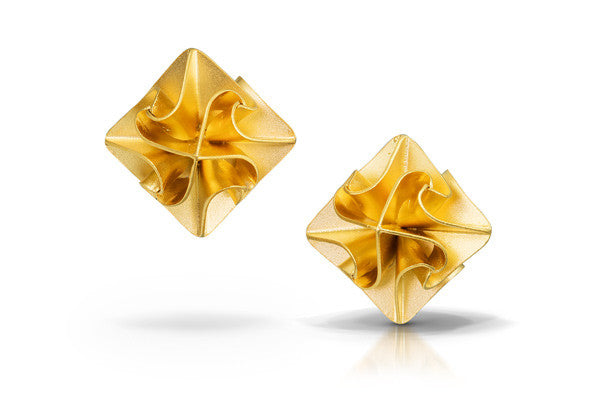 stardust post earrings - gold
