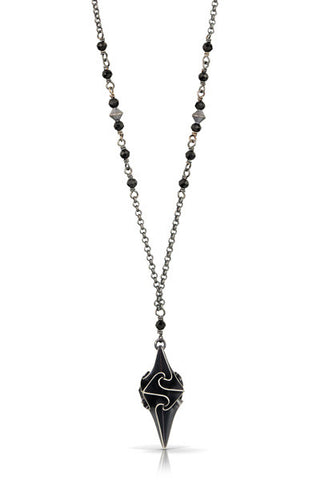 small stardust pendant - black