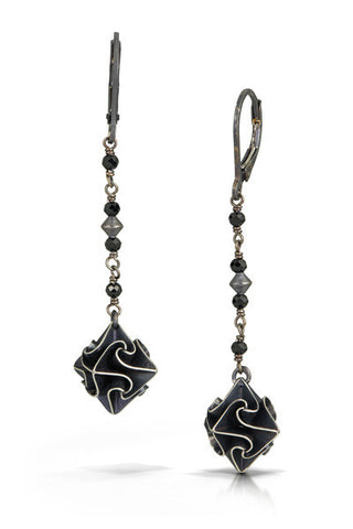 stardust dangle earrings - black