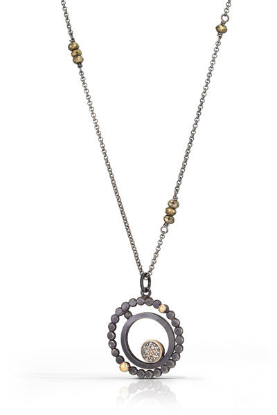 pave diamond pendant with 14k accent - Group B