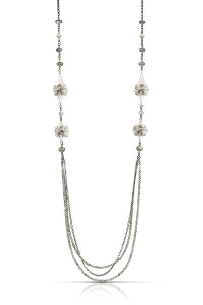 stardust deco necklace - silver