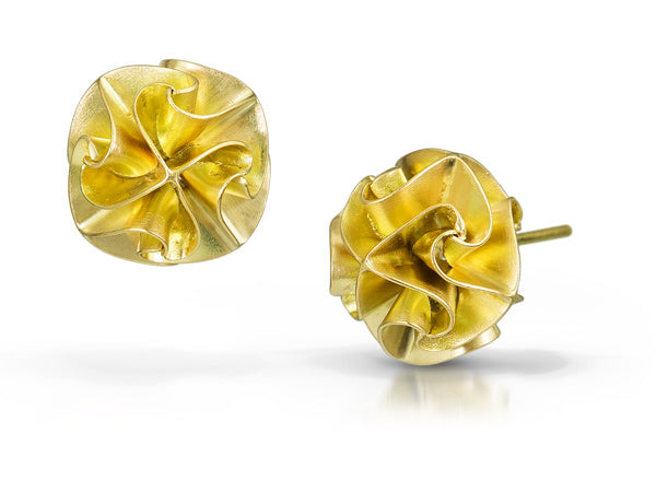 18k flora post earrings