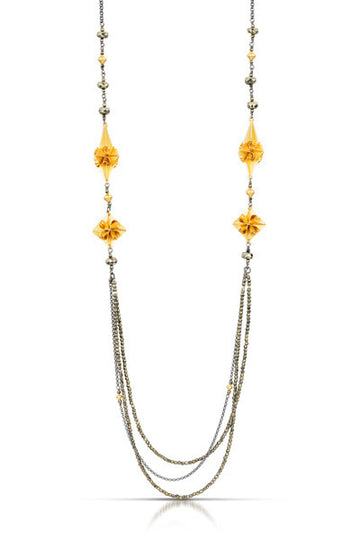 stardust deco necklace - gold