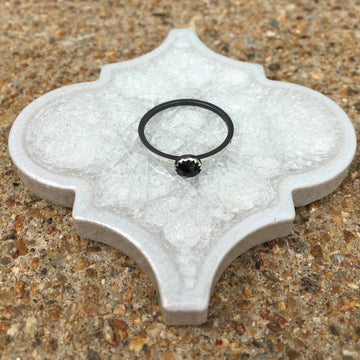 stackable ring - 5mm onyx