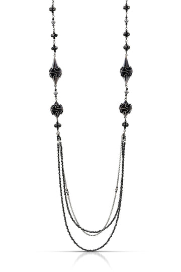 stardust deco necklace - black