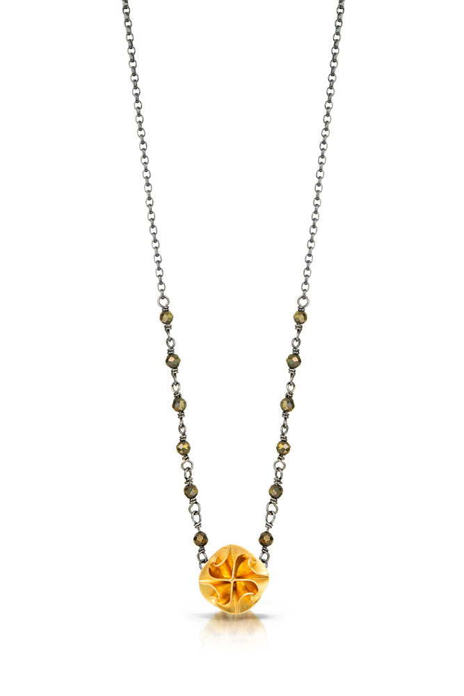 mini flora necklace with chain