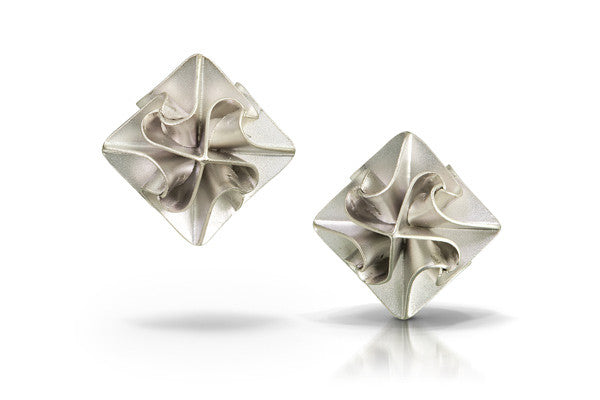 stardust post earrings - silver