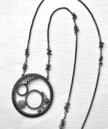 pave diamond pendant - Group C
