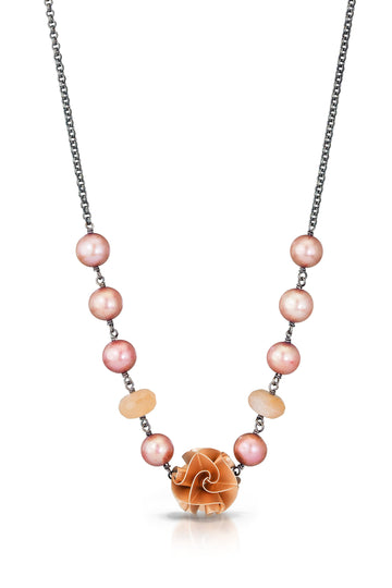 large flora necklace - rose