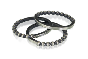 stackable ring - half and half