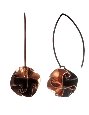 flora drop earrings - ox/rose