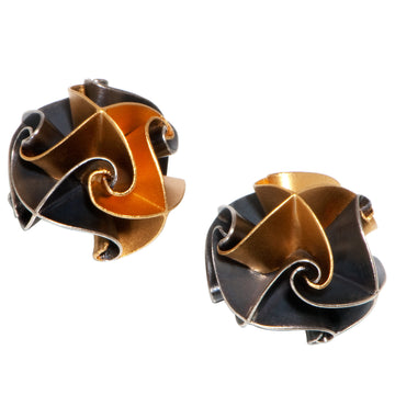 flora post earrings - ox/gold