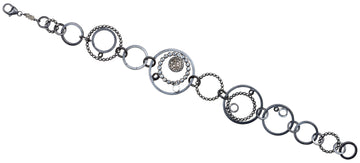 pave diamond bracelet - multi circles