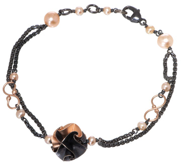one flora bracelet - ox/rose