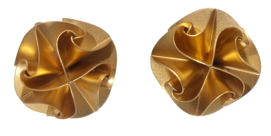 flora post earrings - gold