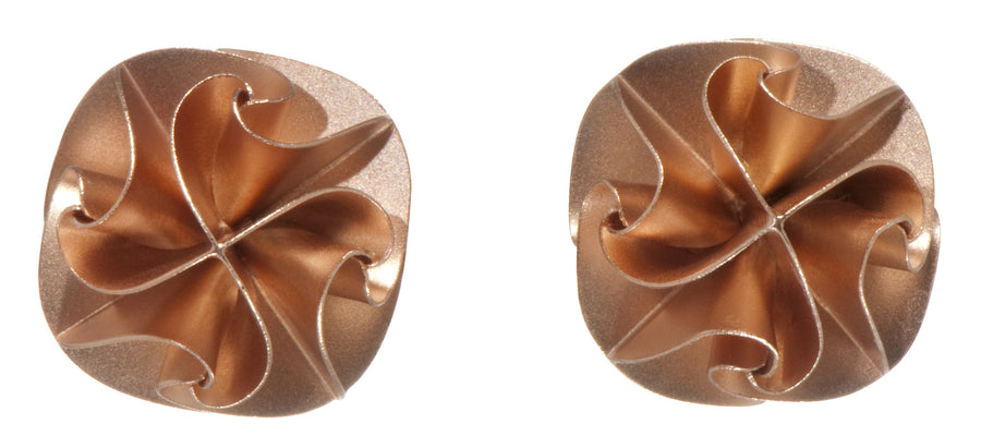 flora post earrings - rose