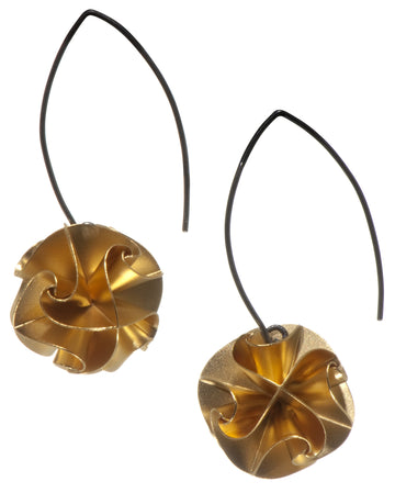 flora drop earrings - gold large