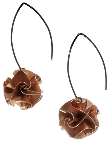 flora drop earrings - rose