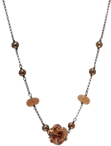 1 bead flora necklace - rose
