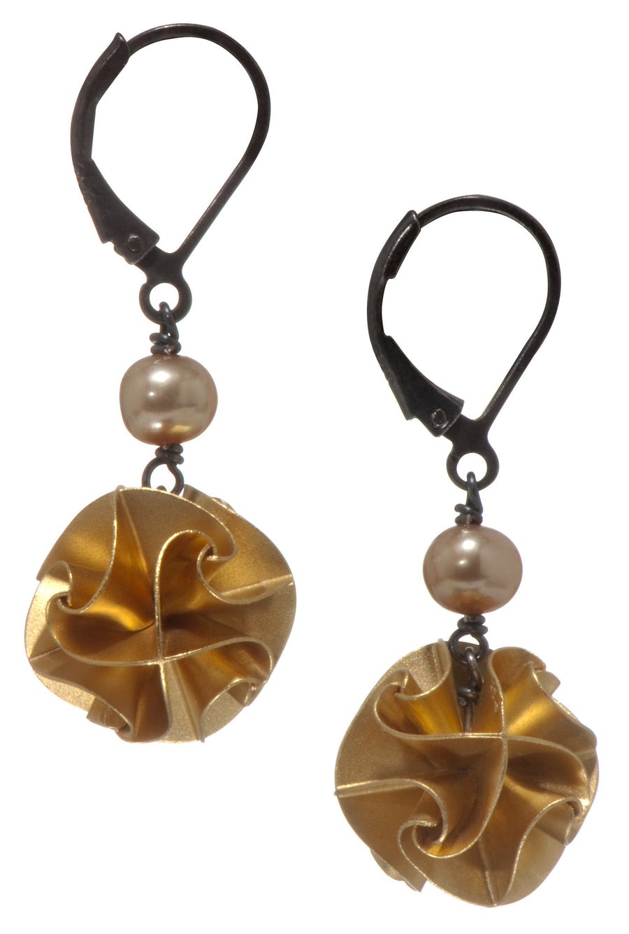 flora with pearl earrings - gold large