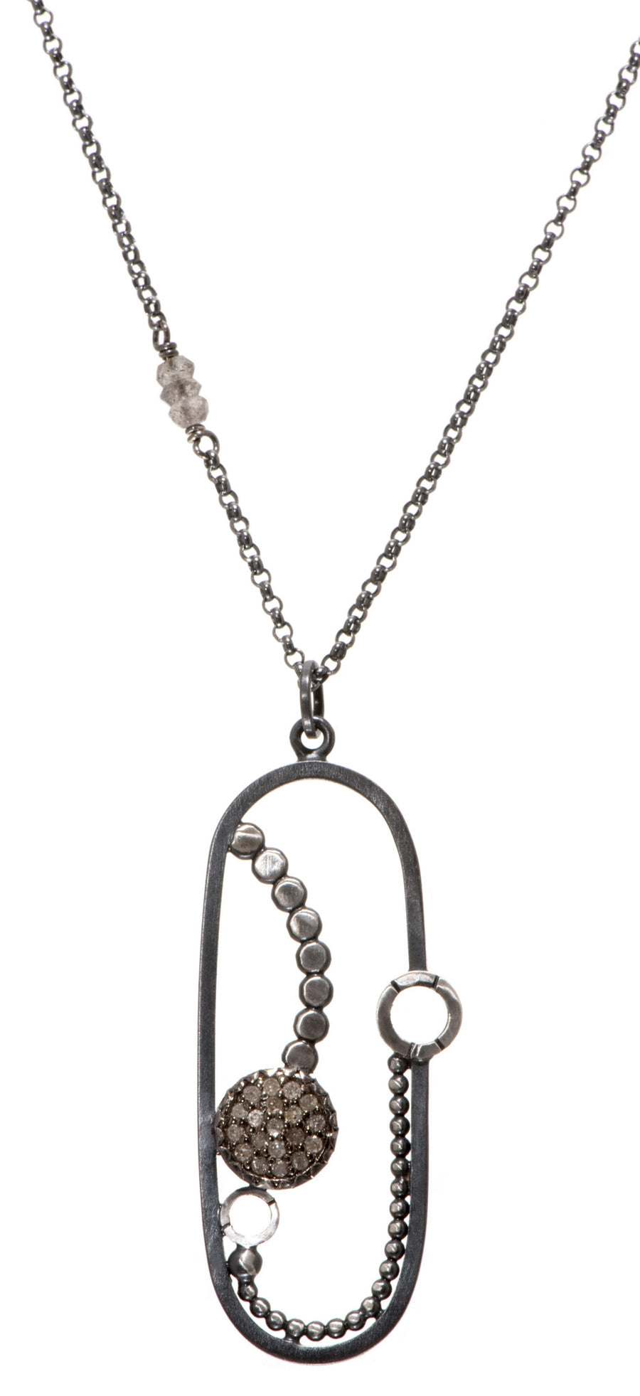 pave diamond pendant - Group B