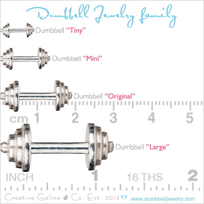 Dumbbell Jewelry Size Chart