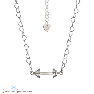 SweetHeart Dumbbell Couture Necklace