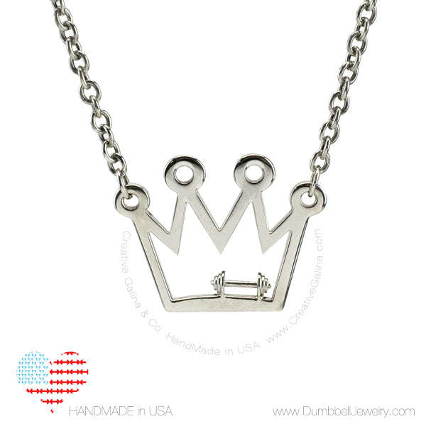 Dumbbell Queen Crown | Dumbbell Jewelry Necklace