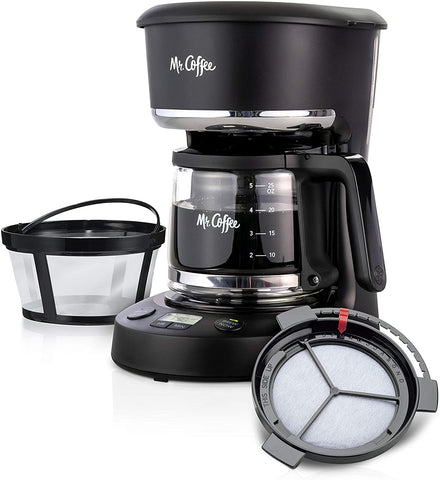 Mr. Coffee 5 Cup Programmable 25 oz. Mini, Brew Now or Later.